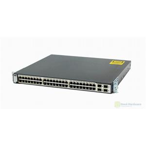 Cisco WS-C3750G-48PS-S Catalyst 48-Ports PoE Gigabit Ethernet Switch and 4 SFP