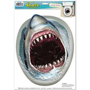 Peel 'N Place Shark Toilet Topper Joke Gag