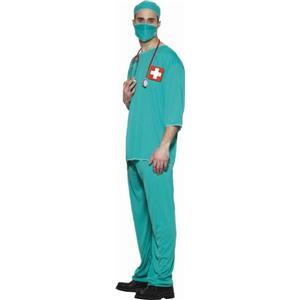 Doctor Surgeon Adult Standard Dr Costume Scrub ER Size Large