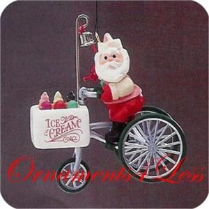 1986 Here Comes Santa #8 - Kringle's Kool Treats - QX4043 - SDB WITH NO TAG