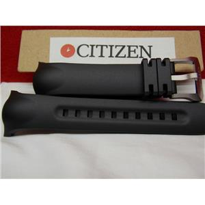 Citizen Watch Band BN5048-01E Black Resin Strap. Compass Altimeter Watchband