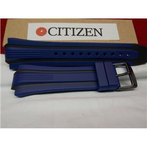 Citizen Watch Band BN0097 -02H Blue/Black Rub Strap Eco Drive WR-200 Watchband