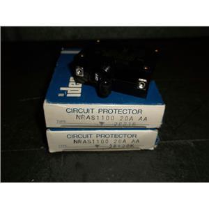 2 NEW Idec Circuit Protectors NRAS1100 20A AA 220v