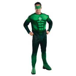 Green Lantern Hal Jordan Deluxe Muscle Chest Adult Costume Size XL 44-46