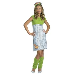 Oscar the Grouch Teen Girl Costume Size Large 10-12