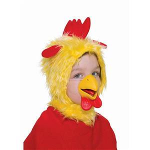 Animal Costume Yellow Chicken Hood and Nose Mask