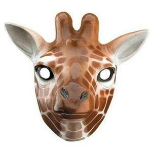 Plastic Giraffe Child Face Mask