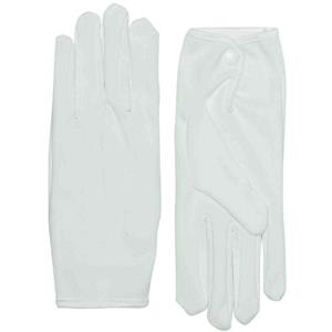 White Parade Santa Jester Formal Gloves with Snap