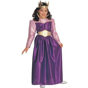 Purple Queen Child Costume Size Medium 8-10