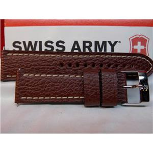 Swiss Army Watch Band Infantry 2TZ 23mm Wide 4mm Thick Brown Leather Strap