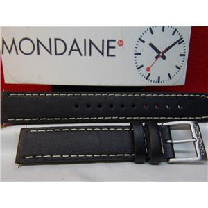 Mondaine Swiss Railways Watch Band FE1946 16mm Leather Stitched Strap Watchband