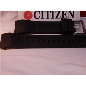 Citizen Watch Band BJ2128 -05E Black Rubber Strap Watchband For Sport Dive Watch