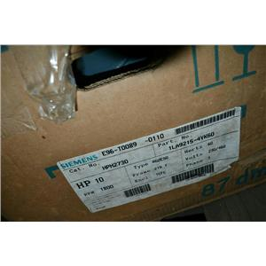 Siemens PE-21 Plus 10HP motor, 1740RPM, 230/460V, 24.6/12.3A, Frame 215T, RGZESD
