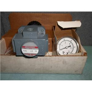 "New Arrow Pneumatics R352 1/4"" Regulator W/ Gauge"