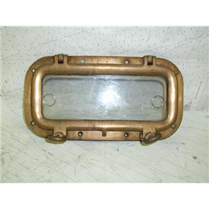 "Boaters' Resale Shop of Tx 1308 0105.06 BRONZE OPENING PORT  5""x12"" WITH SCREEN"