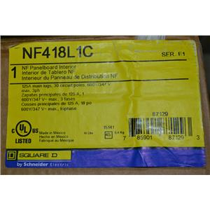 SQUARE D NF418L1C PANELBOARD INTERIOR NF 125A MLO 18CKT 3P