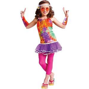 Girls Age of Aquarius Hippie Kids Costume Large (12-14)