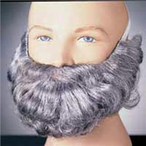 Gray Character Costume Beard and Mustache Adult Men's Facial Hair Accessory