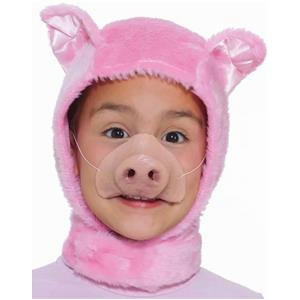 Forum Novelties Child Size Animal Costume Pink Piglet Hood and Nose