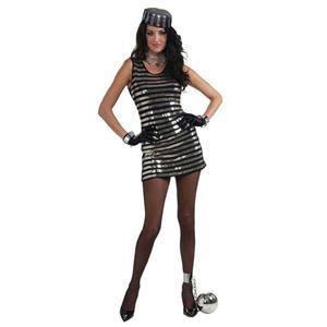 Forum Novelties Women's Jail House Honey Sexy Costume Size XS/SM (2-6)