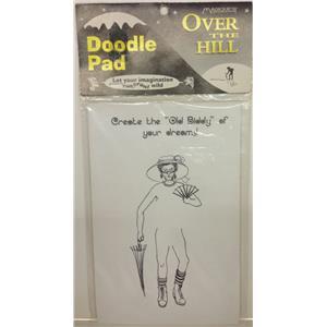 Over The Hilll Doodle Pad Prank Gag Grandpa Birthday Retirement Gift