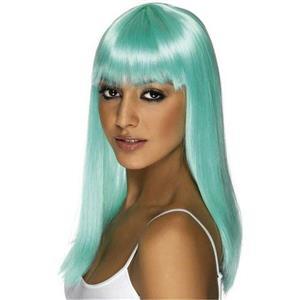 Neon Aqua Glamourama Wig