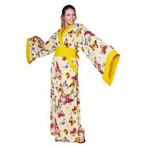 Madame Butterfly Yellow Geisha Kimono Adult Costume