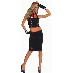 Sexy Seaside Pinup Sailor Costume Size Large 10-14