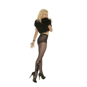 Sheer Pantyhose with Black Dragon Tattoo Design