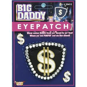 Big Daddy Dollar Sign Eye Patch Costume Accessory