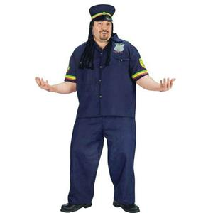 Way High Patrolman Rasta Jamaican Plus Size Adult Costume