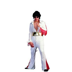 RG Costumes Rock Star White Elvis Jumpsuit Costume Standard Size