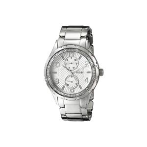 GUESS Women's U0442L1 Mid-Size Silver-Tone Multi-Function Watch