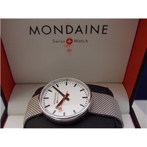Mondaine Swiss Railways Watch SBB Mini Giant. All Steel 35 mm Case and Bracelet