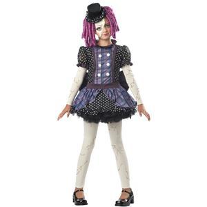 Broken Doll Child Costume Size Large 10-12