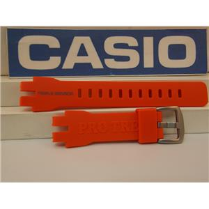 Casio Watch Band PRW-3000 -4 Orange Triple Sensor Pro Trek Strap