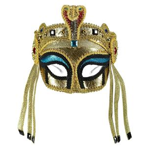 Forum Novelties Women's Deluxe Egyptian Female Mask with Eyeglass Arms
