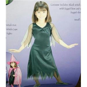 Black Witch Dress Child Costume Size Medium 8-10