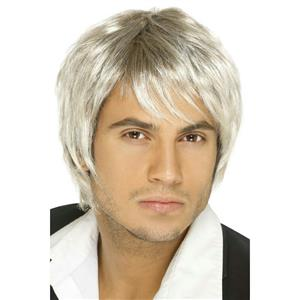 Men's Boy Band Blonde Brown Mix Shaggy Wig