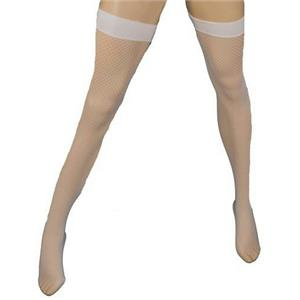 Elegant Moments White Fishnet Thigh Hi Highs