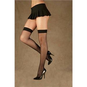 Elegant Moments Black Fishnet Thigh Hi Highs