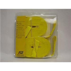 """Boaters' Resale Shop Of Tx 2.01 PLASTIMO 36218 POLYESTER 32.8"""" YELLOW JACKLINES"""