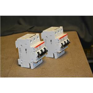 (Lot of 2) ABB S 263 D 20 Circuit Breaker, 3P, 480VAC, 20A