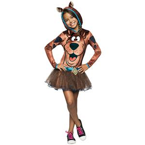 Scooby Doo Hooded Girls Costume Size Large 12-14