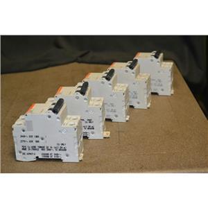(LOT OF 5) Merlin Gerin Circuit Breaker, C60N, 20A-type D, # 24525, 2 Pole