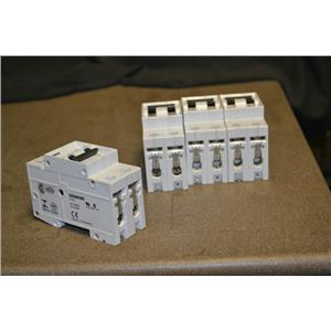 (Lot of 4) Siemens 5SX22 Circuit Breakers, 25A-type D, 2 Pole, 480V