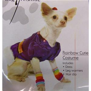 Rainbow Cutie Brite Dog Cat Pet Costume Size XS