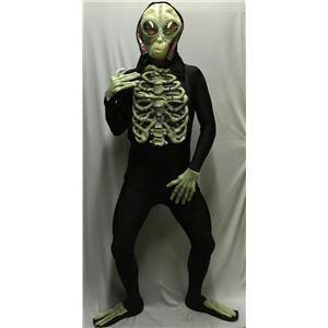 Glow-in-the-Dark Alien Accessory Kit Mask Chest Hands and Feet Set
