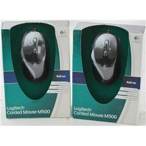 2 x Logitech Corded Mouse M500 910-001204