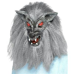 Gray Werewolf Latex Adult Mask